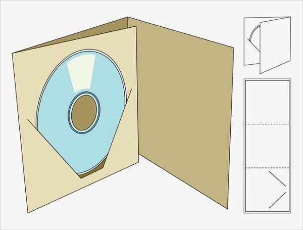 CD Square Box Template
