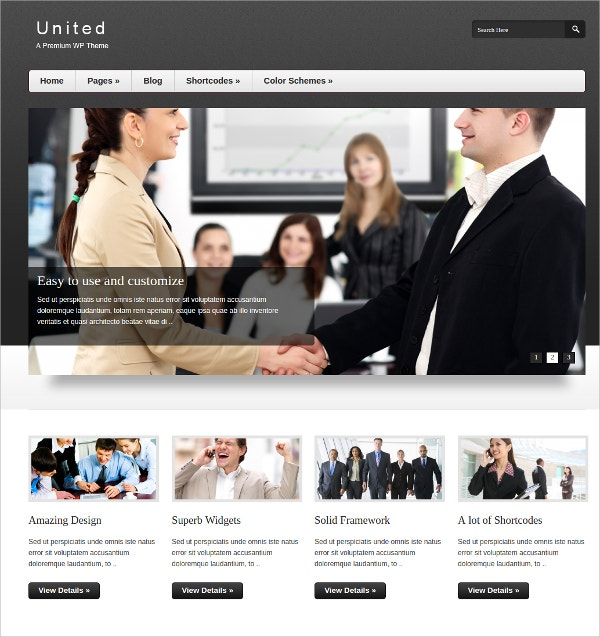 Corporate, Business Portfolio WordPress Theme $35