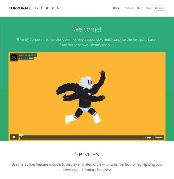 Corporate Professional Business WordPress Theme