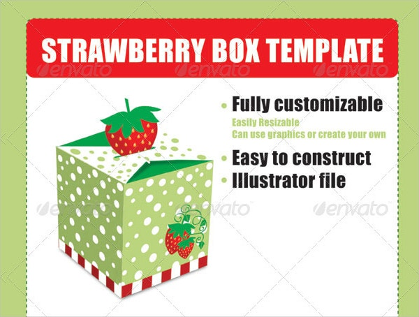 Strawberry Box Template