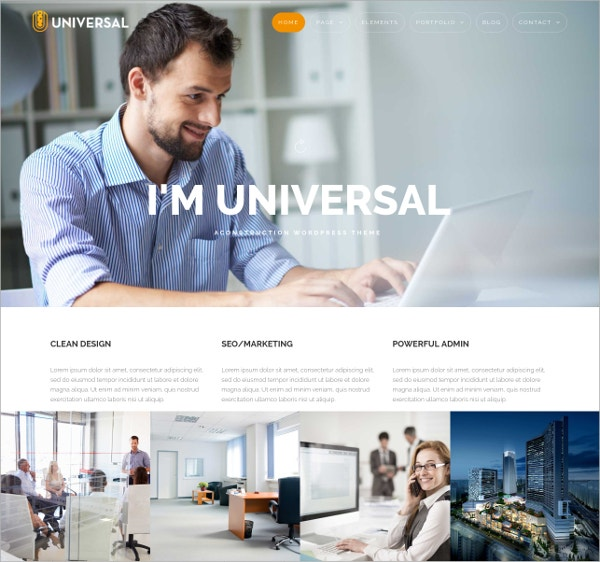 Universal Business WordPress Theme $59