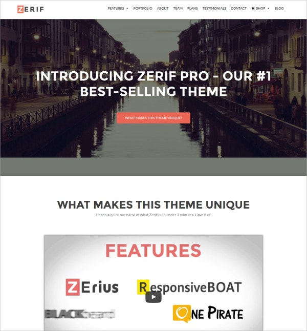 Business One Page WordPress Theme
