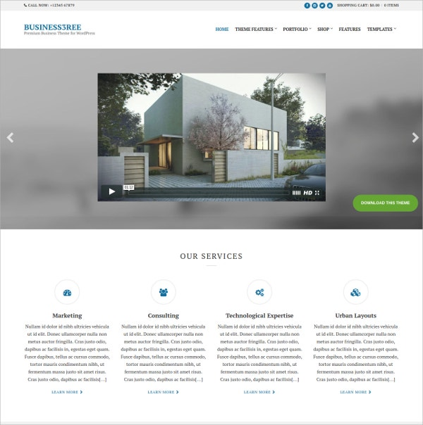 Business And Portfolio WordPress Theme