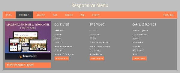 19 Drop Down Menu Designs Free Css Js Format Download