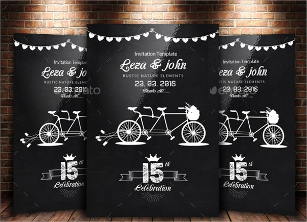 Chalkboard Wedding Flyer