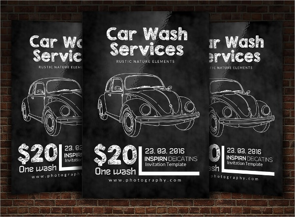 Chalkboard Car Wash Flyer