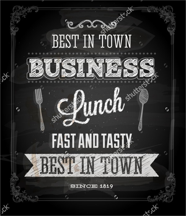 Business Lunch Chalkboard Flyer
