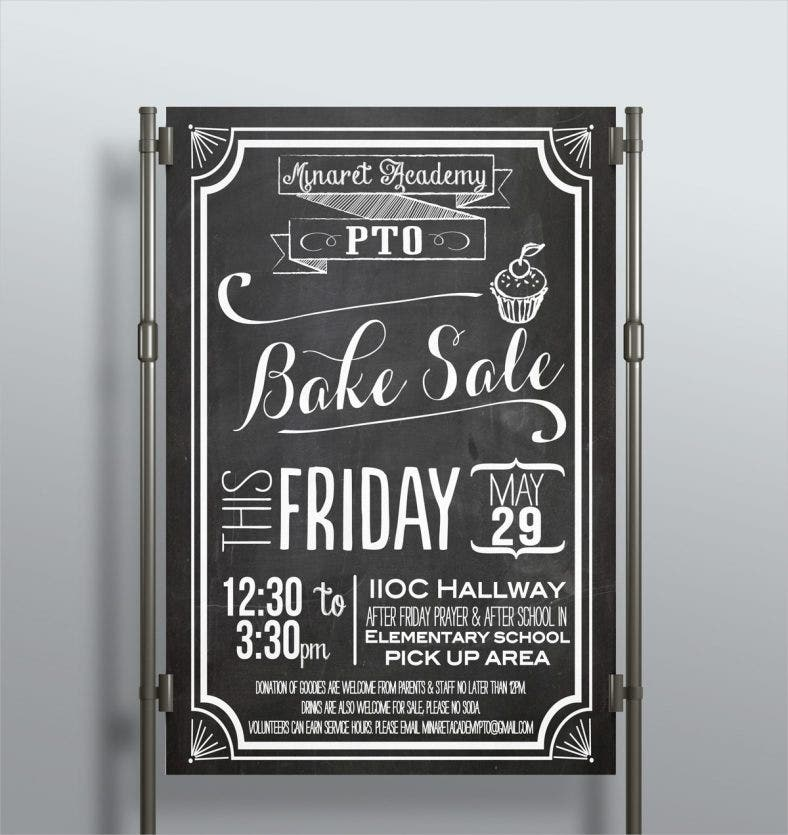 School Chalkboard Flyer Template