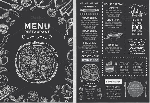 Food Menu Chalkboard Flyer