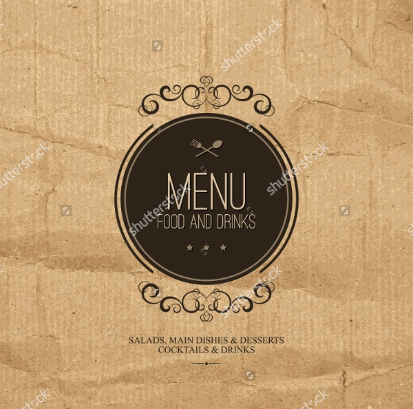 vintage menu template design