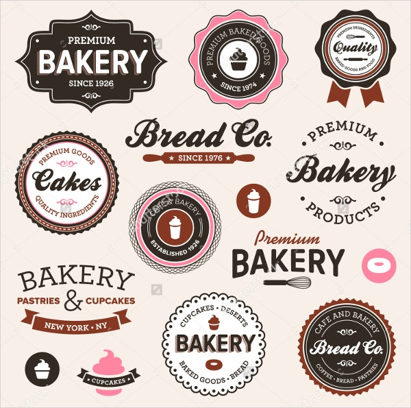 Vintage Retro Bakery Label Templates