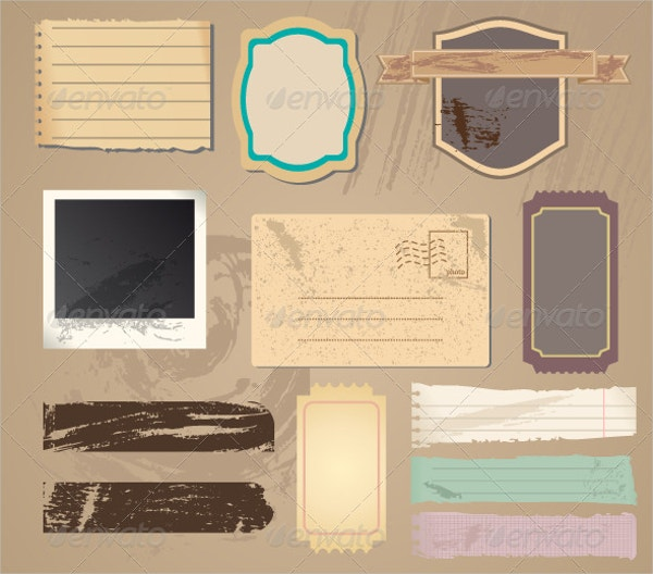 Vector Paper Vintage Label Templates