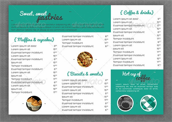 vintage pastry house menu template1