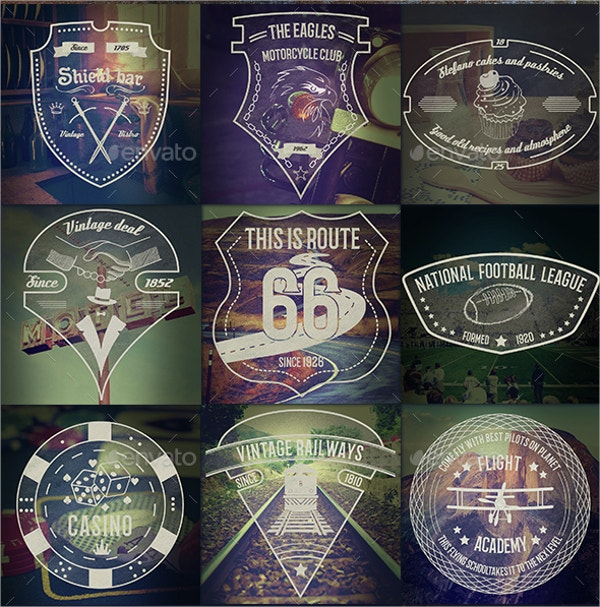 classic vintage badge label templates