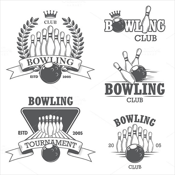 Bowling Logo Vintage Templates