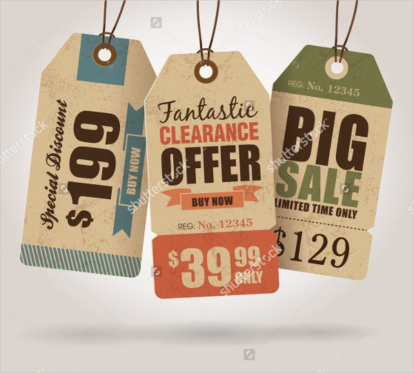 sale tag vintage label templates