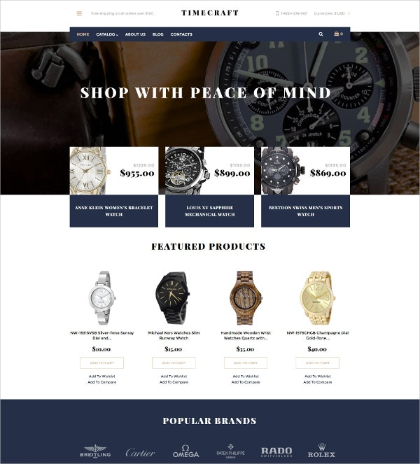 Watches VirtueMart eCommerce Template $139