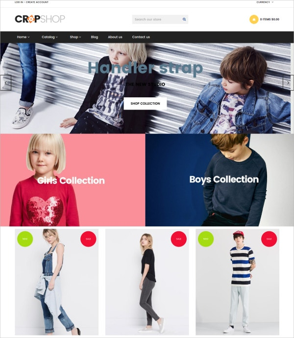 Fashion eCommerce Shopify Theme $65