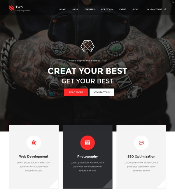 Professional eCommerce HTML Template $17
