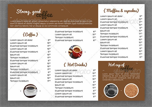 vintage coffee house menu template