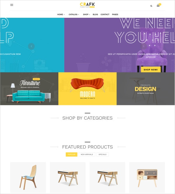 Fashion Accessories Craft Shopify eCommerce Theme $65