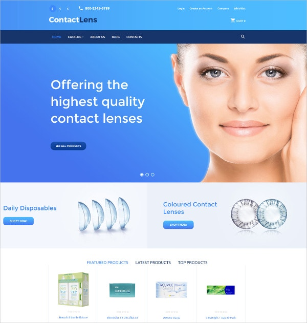 Quality Lenses eCommerce VirtueMart Template $139