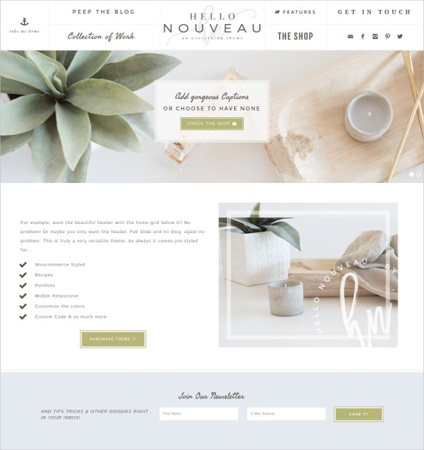 Wedding Boutique eCommerce WP Genesis Theme $75