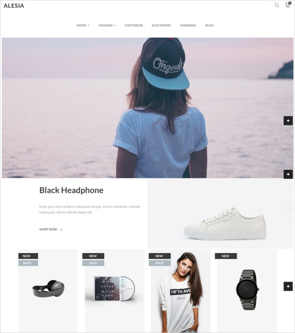 Multipurpose Responsive eCommerce WP Theme $59