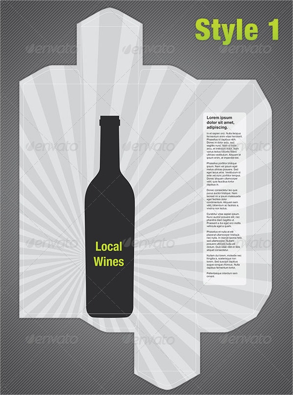 wine bottle box template