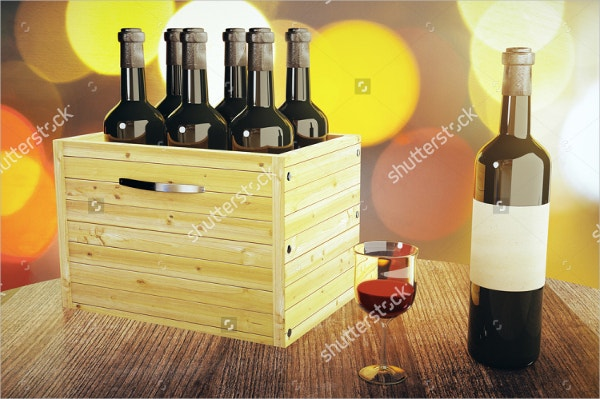 wooden wine box template