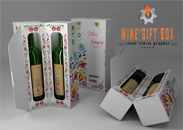 Wine Gift Box Template
