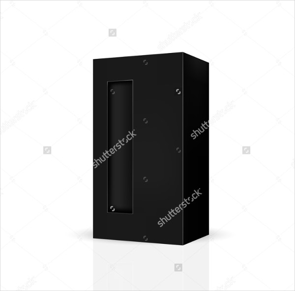 black large wine packaging box