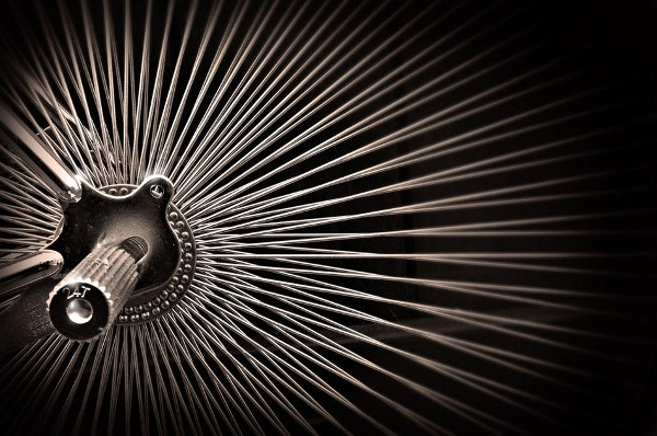 kinetic spokes abstract photo