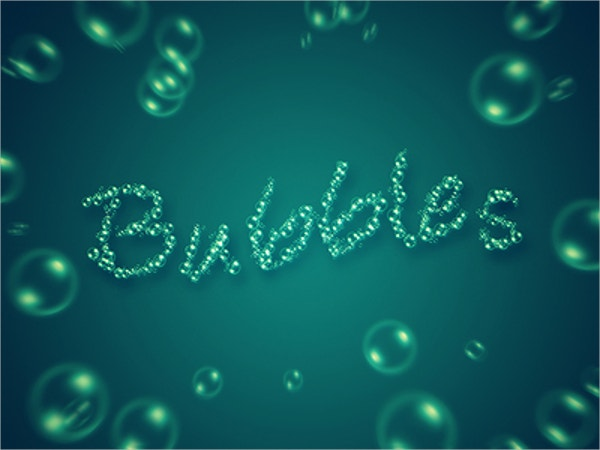 Typography Bubble Brush