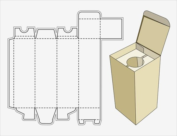Paper Craft Wine Box Template