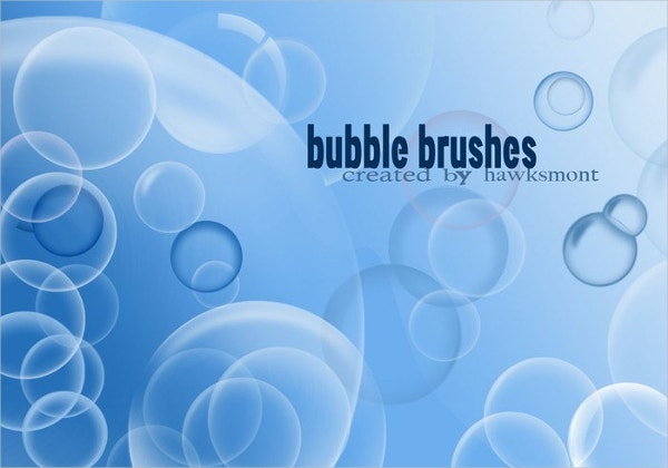 Vector Bubble Brush