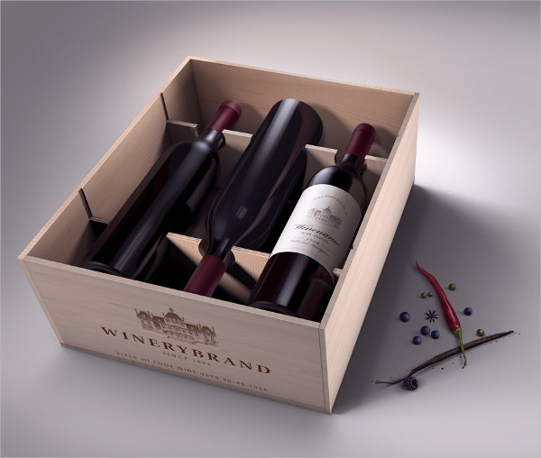 wood wine box template