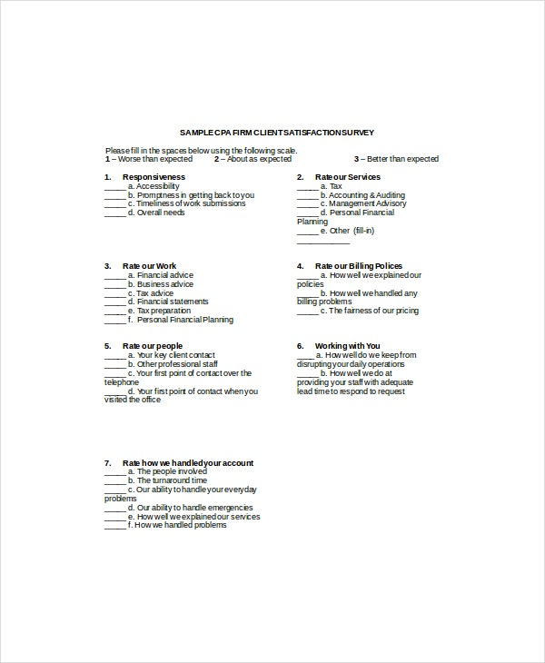 client survey template 7 free word pdf documents download free