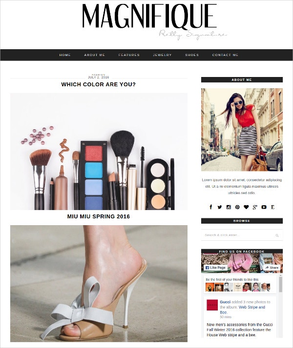 Elegant Fashion WordPress Blog Theme $35