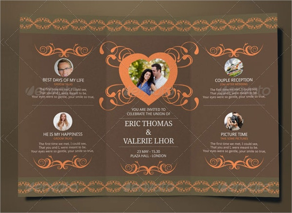 Folded Wedding Invitation Template