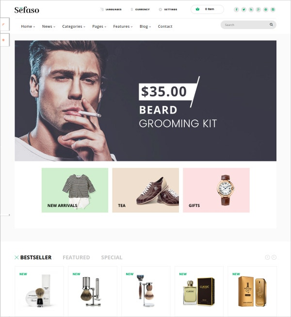 Fashion & Beauty eCommerce Blog Prestashop Theme $55