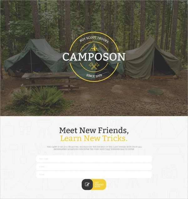 Boy Scout Camp Responsive Blog Template $199