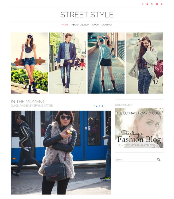 Lifestyle Fashion Blog WordPress Theme $49