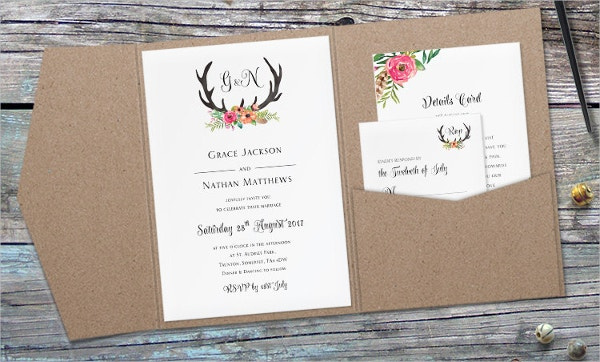 Pocket Folded Invitation Card