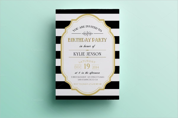 Folded Party Invitation Template