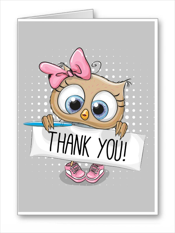 Funny Cartoon Thank You Card