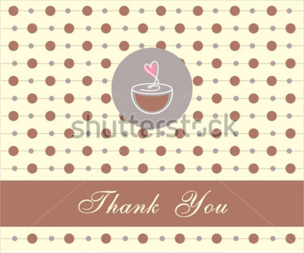 Funny Coffee Thank You Card