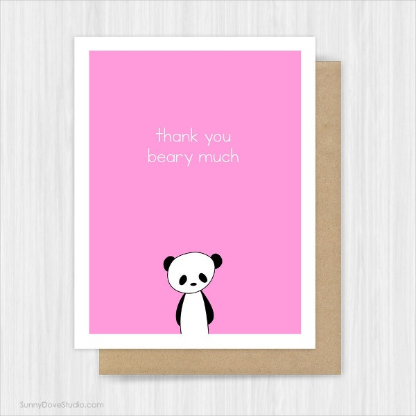 Funny Baby Shower Thank You Card