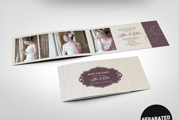 Double Folded Invitation Template
