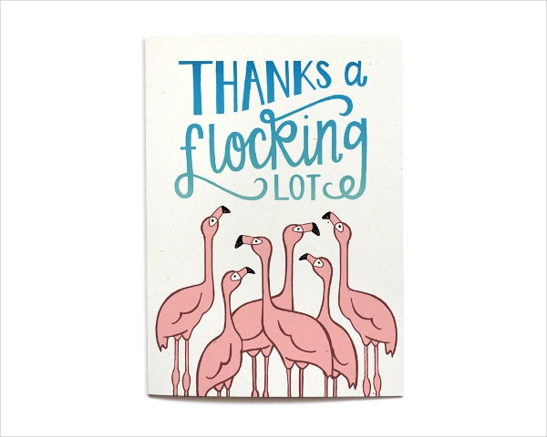 Summer Funny Animated Thank You Card
